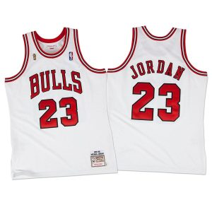 1995-96 Chicago Bulls Jordan #23 White