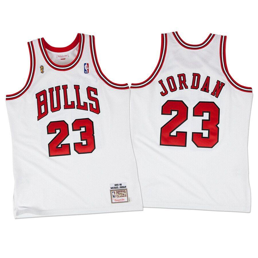 1995-96 Chicago Bulls Jordan #23 White