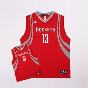 2016 Houston Rockets Harden 13 Uniform Red 1