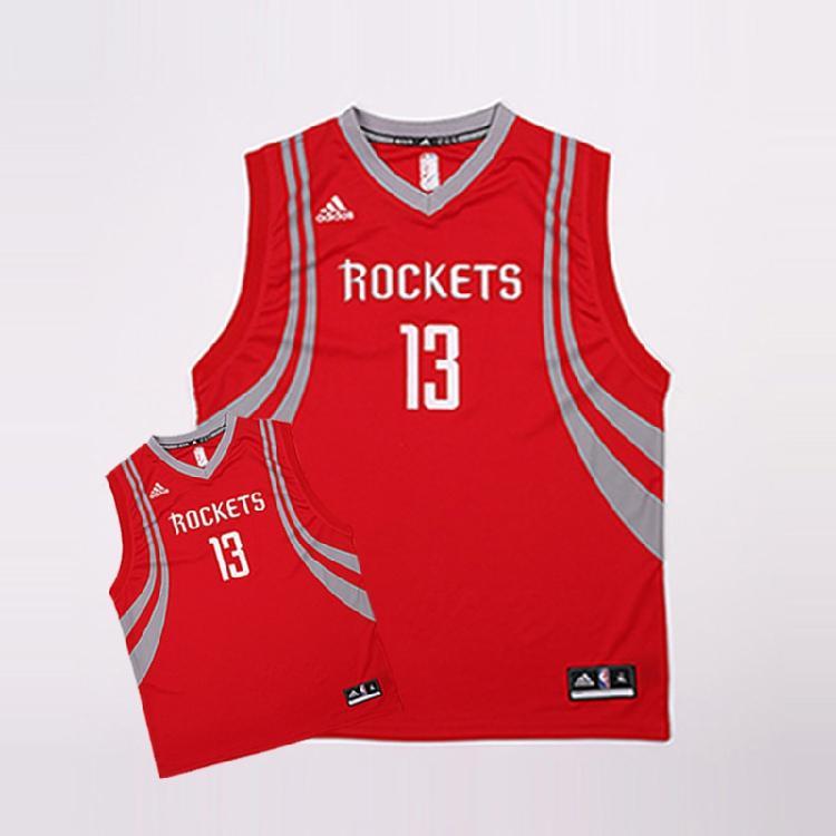 2016 Houston Rockets Harden 13 Uniform Red 1