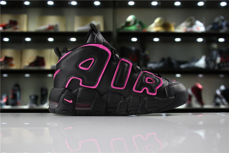Nike-Air-More-Uptempo-Black-Pink-Blast-GS-4