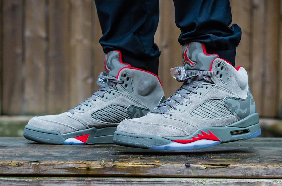 """Как выглядят Air Jordan 5 """"Camo"""" на ноге"""