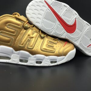 Кроссовки Supreme x Nike Air More Uptempo Gold