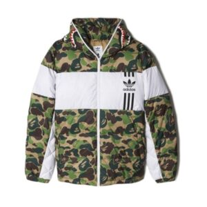 Заказать поиск куртки BAPE X adidas ABC Camo Firebird Shark Puffer Jacket Green