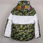 BAPE X adidas ABC Camo Firebird Shark Puffer Jacket Green-16