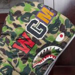 BAPE X adidas ABC Camo Firebird Shark Puffer Jacket Green-6