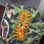BAPE X adidas ABC Camo Firebird Shark Puffer Jacket Green-7