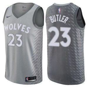 Заказать поиск джерси 2017-18 Butler Timberwolves #23 City Gray