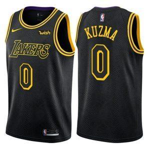 Заказать поиск джерси 2017-18 Kyle Kuzma Lakers #0 City Black