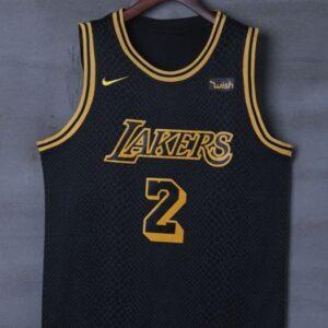 2017-18 Lonzo Ball Lakers #2 City Black