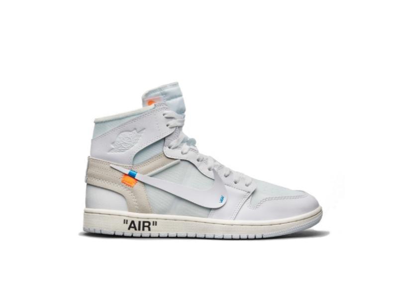 Купить кроссовкиJordan 1 Retro High Off-White White с бесплатной доставкой