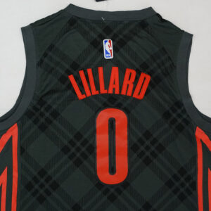 Джерси Damian Lillard 0 Portland Trailblazers City Edition