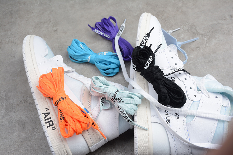 Купить кроссовки Jordan 1 Off-White White