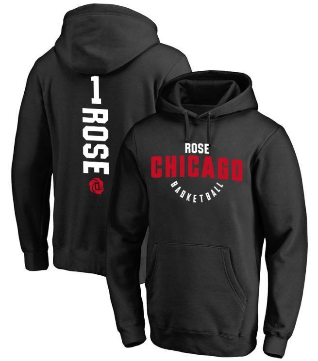 NBA Bulls 1 Rose с капюшоном-1