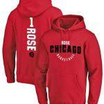 Купить толстовкуNBA Bulls 1 Rose с капюшоном