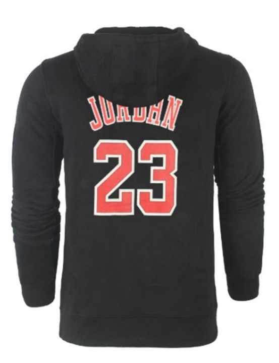 NBA Bulls 23 Jordan с капюшоном-1