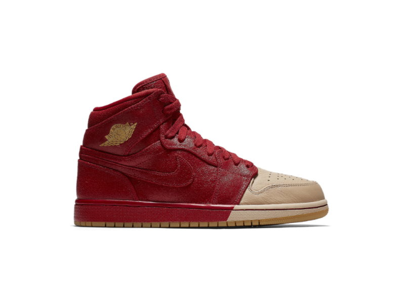 Wmns Air Jordan 1 Retro High Premium Dipped Toe Red