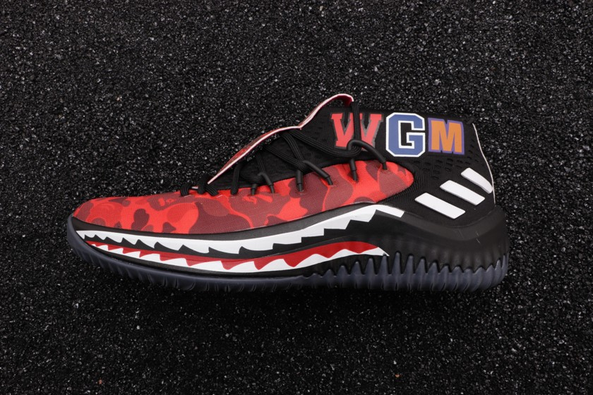 A Bathing Ape x adidas Dame 4 Red-5
