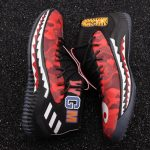 A Bathing Ape x adidas Dame 4 Red-7