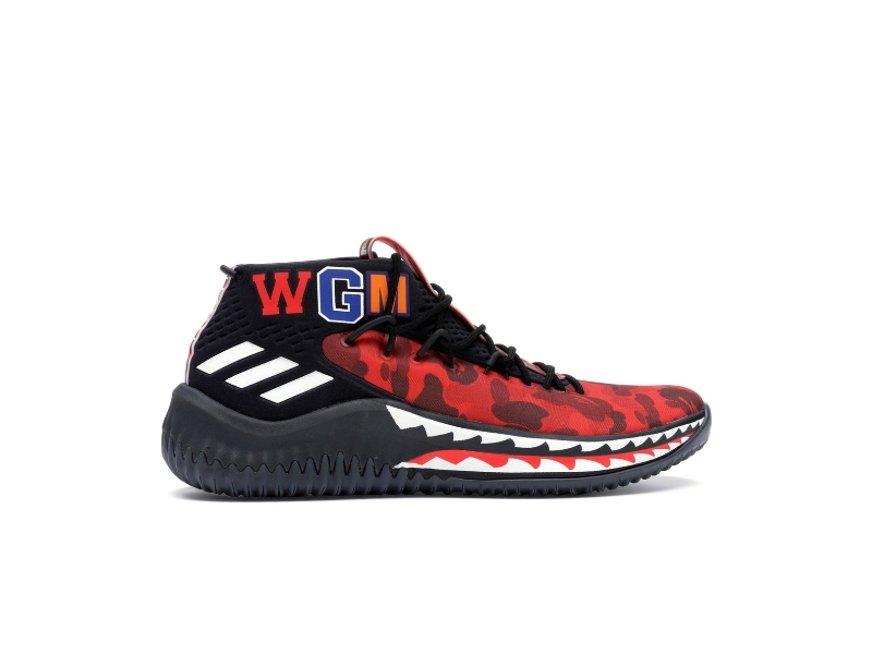 A Bathing Ape x adidas Dame 4 Red