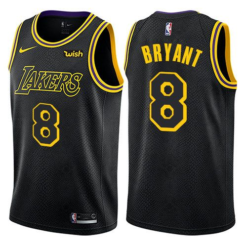 2018 Kobe Bryant 8 Lakers NBA City Black