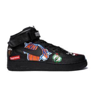 Заказать поиск кроссовок Air Force 1 Mid Supreme NBA Black