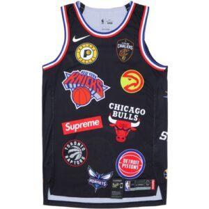Заказать поиск джерси из коллаборации NikeLab x Supreme NBA в чёрной расцветке.
