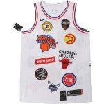 Заказать поиск джерси из коллаборации NikeLab x Supreme NBA в белой расцветке.
