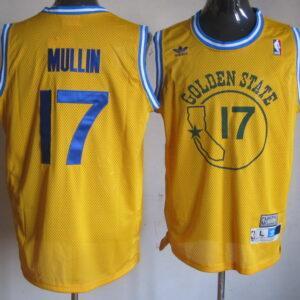 Баскетбольная джерси #17 Chris Mullin Gold Hardwood Classic Swingman Jersey в жёлтой расцветке