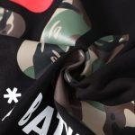 AAPE x FILA Hoodie Black-3