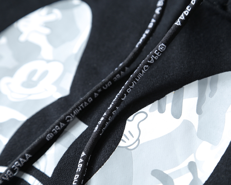 AAPE x Mickey Mouse Black-4