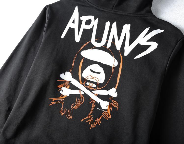 Худи AAPE x Steve Aoki Black купить