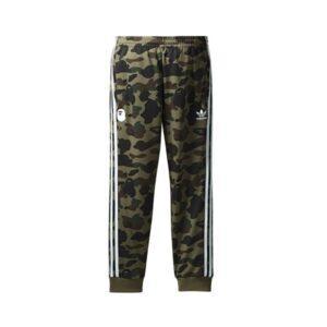 Штаны Bape x adidas adicolor Track Pants Olive Cargo купить