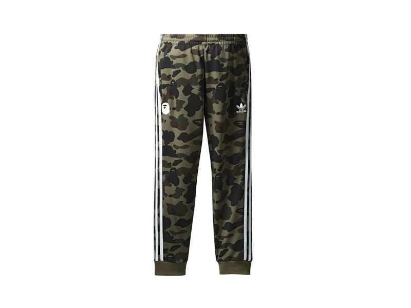 Штаны Bape x adidas adicolor Track Pants Olive Cargo