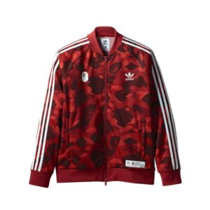 Олимпийка Bape x adidas adicolor Track Top Raw Red купить
