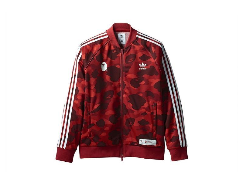 Олимпийка Bape x adidas adicolor Track Top Raw Red купить