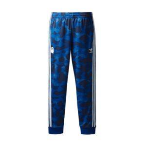 Штаны Bape x adidas adicolor Track Pants Blue купить