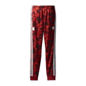 Штаны Bape x adidas adicolor Track Pants Raw Red купить