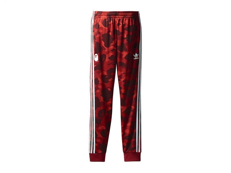 Штаны Bape x adidas adicolor Track Pants Raw Red купить