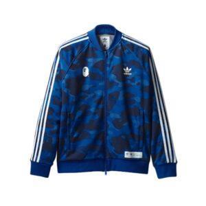 Bape x adidas adicolor Track Top Blue купить