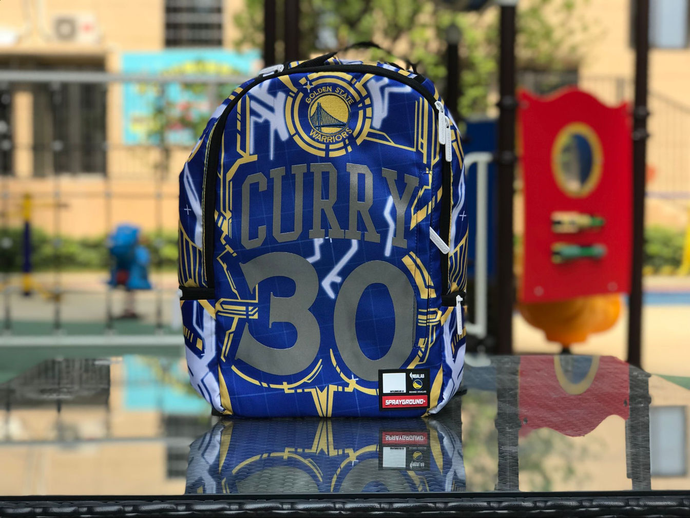 Golden State Warriors Stephen Curry Sprayground Player Backpack-1