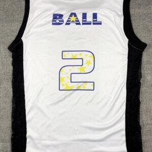 Lonzo Ball 2 Lakers белая майка с бесплатной доставкой 10-18 дней