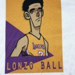 Lonzo Ball 2 Lakers белая майка-2