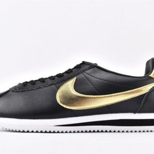 Nike Classic Cortez Black Metallic Gold 1