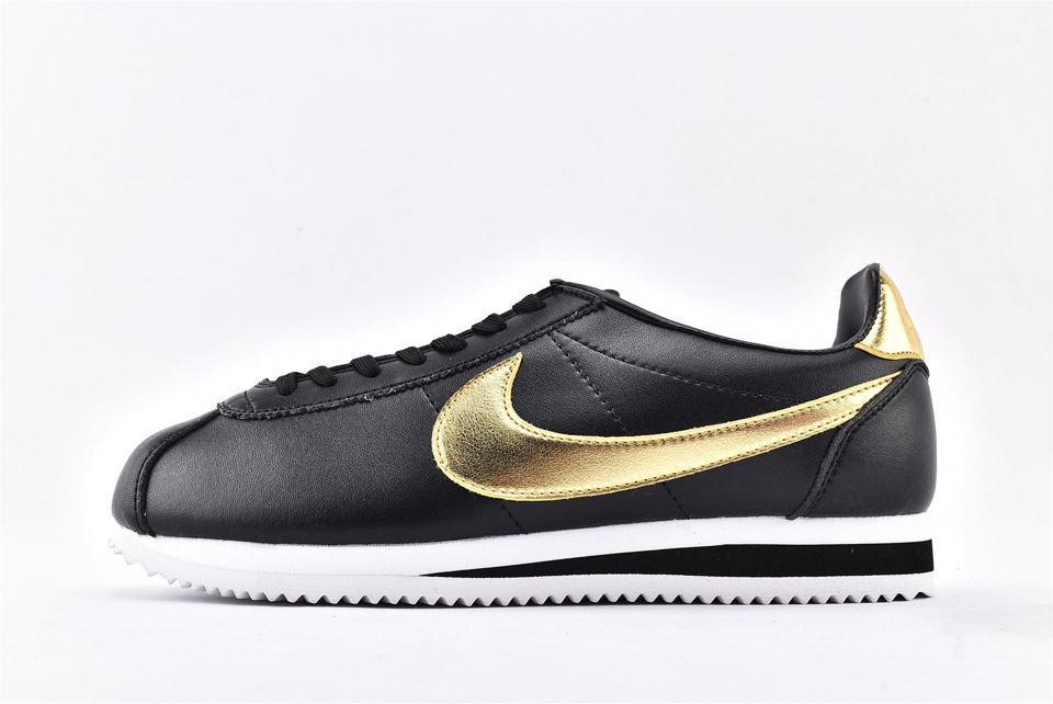 Nike Classic Cortez Black Metallic Gold-1