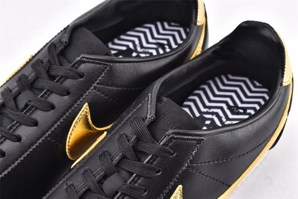 Nike Classic Cortez Black Metallic Gold-4