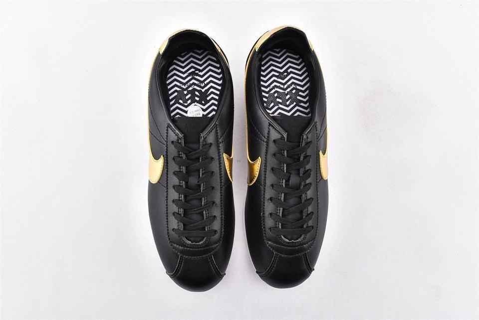Nike Classic Cortez Black Metallic Gold-6