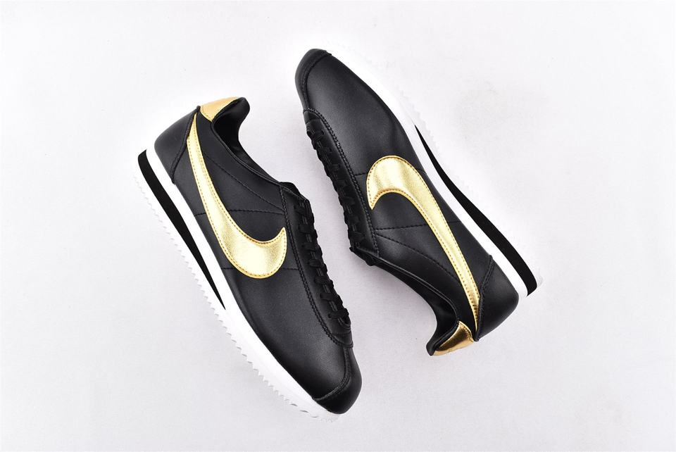 Nike Classic Cortez Black Metallic Gold-7