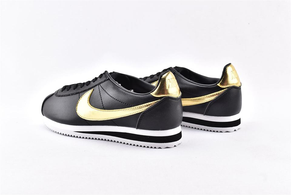 Nike Classic Cortez Black Metallic Gold-9