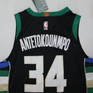 Купить 2018 Milwaukee Bucks 34 Antetokounmpo Jersey Black
